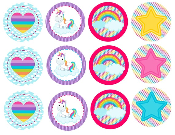 Inventive image throughout unicorn cupcake toppers printable