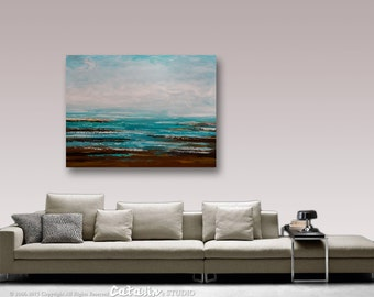 Abstract Painting, Large Painting, Wall Art, Wall decor, Seascape Painting, Landscape Painting, Art, Painting, by Catalin, Acrylic Painting
