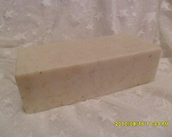 Chamomile & Oats Shea Butter Glycerin Soap   2 Lb Loaf