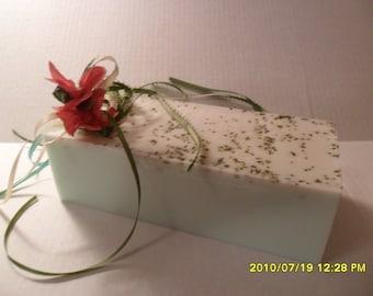 Tea Tree Soap Anti Bacterial   2 Lb Loaf  U Pick Block or Pre-sliced  ALL NATURAL