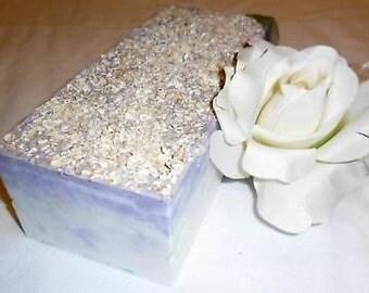Lavender & Oats Soap Loaf  2 Lb    Detergent Free   All Natural
