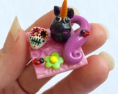 Day Of The Dead Unicorn Scene Polymer Clay