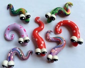7 silly wiggly snakes Polymer Clay