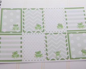 Frog Stickers Full Box Planner Stickers Vertical Horizonal Plum PS189 Fits Erin Condren