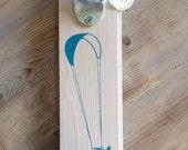 Kite Surfer, Wall Mount Bottle Opener