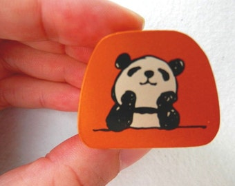 Cute Panda Stamp - Kodomo no Kao - Thinking Panda