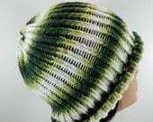 Funky Striped Loom Knit Hat