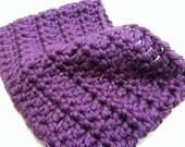 Warm Chunky Crochet Purple Cowl
