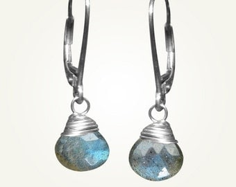 Labradorite Earrings, Labradorite Jewelry, CANDY DROP EARRINGS