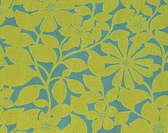 "Panel of Designer SCHUMACHER Fabric ""BORA BORA"" in Lagoon Almost 3 yards"
