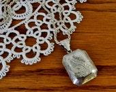 Vintage Sterling Silver Engraved Locket Necklace