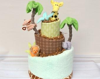 Safari Baby Shower, Jungle Baby Shower Decor, Safari Diaper Cake, Safari Animals Shower, Jungle Shower Cake, Safari Shower Decor
