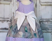 Shimmer and Shine Baby Big Bow Dress 0 3 6 12 18 24M Custom Boutique Birthday Handmade Made in USA Infant Shower Gift