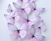 purple edible butterflies - wedding cake decoration - lavender butterflies - cupcake toppers - purple cake topper - Uniqdots on Etsy CODE002