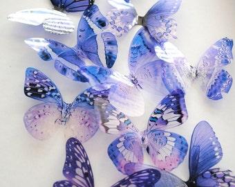 transparent purple butterfly - plum purple butterfly - adhesive butterfly - 3D plum butterfly - wall butterfly - Uniqdots on Etsy CODEA1