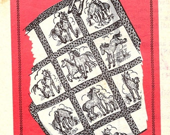 UNUSED Mail Order  Transfer Pattern 601 *  Embroidered Horse Quilt   * UNCUT * NOT a Copy