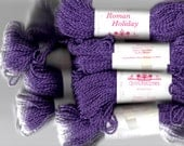 Eight Skeins Vintage Crystal Palace Yarns- Roman Holiday- Discontinued- Purple Cotton/Rayon