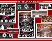 New 1,2,3,4,5 yards 7/8 Star Wars inspired #2 Red FOIL GLOW Dark ink Grosgrain Ribbon bows black robots chewy wookiee shyriiwook Chewbacca
