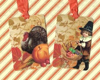 Thanksgiving, Gift Tags, Autumn, Turkey, Thanksgiving Tags, Turkey Tags