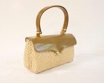 Vintage 1960s Woven Box Purse Handbag ADG Imports