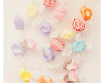 Taffy Fine Art Print, Signed--Saltwater Taffy Pastel Sweet Candy Nursery Home Decor