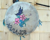 Butterfly Spirit Drum / Shaman Drum / Frame Drum / Butterflies / Wiccan / Pagan / Native American