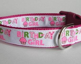 Birthday Girl Dog Collar