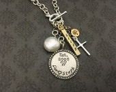 Custom Hand Stamped Necklace My Loving Family design