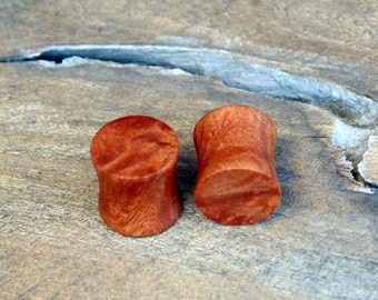 Beautiful 11mm Maple burl wood ear plugs, Hand crafted 7/16ths organic set of gauges