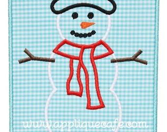 830 Snowman Patch 3 Machine Embroidery Applique Design