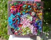 Fabric Bead and Button Collage-Insane Quilt
