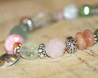 Feminine Chunky Gemstone Bracelet