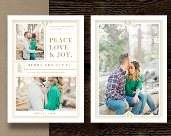 SALE! Christmas Card Templates for Photographers - 5x7 Photography Press Card - Holiday Designs for Professional Photographers