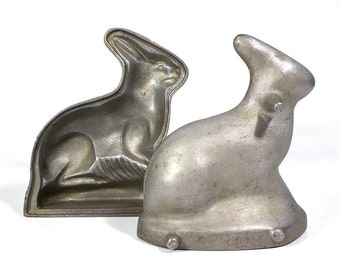 Vintage Cast Aluminum Rabbit Cake Mold