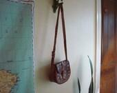 70s mini tooled leather purse