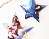 Mystery Locksley Beer Stars, Ornaments, Aluminum Can, Upcycled, Ordinary Bitter