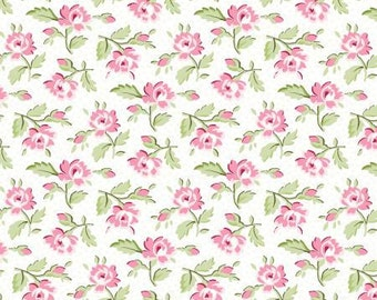 Symphony Rose 25377-PIN Cotton Fabric Pink Floral  Rose Red Rooster