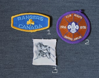 it's official; official looking , girl guides/girl scouts vintage badges, boy scouts, Brownies, more you choose one