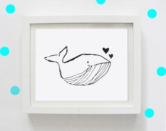 Whale Love, Digital Print