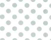 Michael Miller - Quarter Dot Pearlized in Platinum White / Silver