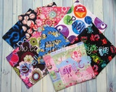 2 Reusable Personalized Snack Bags - Pick Your Fabric