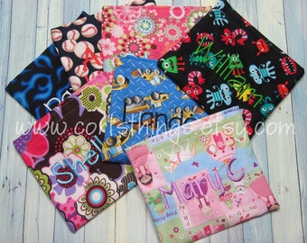 3 Reusable Personalized Snack Bag - Pick Your Fabric