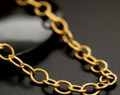 Solid Brass 6.3mm Links - Oval Cable Chain - By the Foot or Finished  - Made in the USA