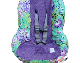 Toddler Car Seat Cover Love Bliss Emerald