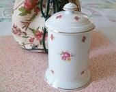 SALE - Laura Ashley Bone China Jar with Lid,  Made in England, Free Laura Ashley storage bag