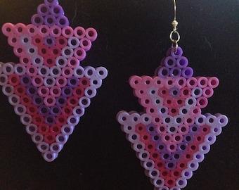 Purple Deco Earrings