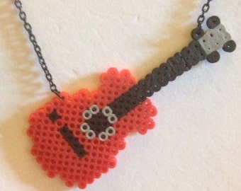 Red Guitar Necklace
