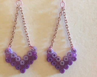 Chervron Dangle in Purple