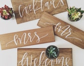 Hand Painted Wood Plank Wedding Signage