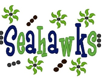 Seahawks Applique Machine Embroidery Design 4x4 7x5 10x6 Seattle Washington Team Instant Download Basketball Football Baseball Soccer Sports
